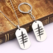 Game Dead by Daylight Necklace Metal Pendant Key Chain Holder Men Girl Gift Jewelry Dropshipping Chaveiro Choker Charm Accessory