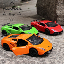1:36 kids toys Gallardo Car model multiple Colour metallic material Model Decoration Musica Flashing Open the door(China)