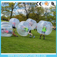 Free shipping 1.0mm PVC 1.2m diameter bubble bumper sports,giant inflatable ball,bubble football for kids