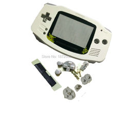 Hot Sale White Color Pikachu Plastic Lens For Gameboy Advance GBA Console Shell Case With Rubber Pads Screws Buttons Lens