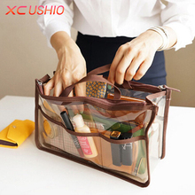 Portable Transparent PVC Travel Storage Bag Small Handbag Waterproof Cosmetic Bags Cases Travel Toiletry Bag Organizer Pouch(China)