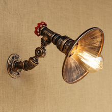 Vintage Industrial Iron Wall Lamp Retro adjustable Wall Light Lamparas for living room bedroom hallway restaurant E27 110v 240v(China)