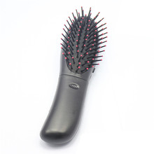 Electric Vibrating Hair Brush 1Pcs Black Battery Vibrating Massager Head Body Hair Scalp Blood Circulation Comb Brush