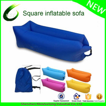 Most popular comfortable and portable lightweight laybag couch with 100% ripstop Nylon hangout air sofa