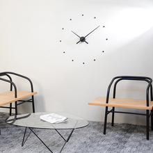 New Arrival 12 Dots Design sticker EVA 70CM-100CM kitchen wall clock large decorative 3d diy wall clock very big clock