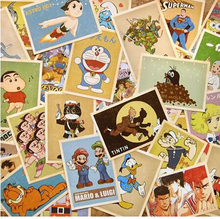32pcs/ lot NEW old memory cartoon comic post card set / greeting card / children best wishes gift cards