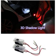 2PCS LED Laser Ghost Shadow Lights Projector Step Courtesy Side Door Lamp for Audi A8 A1 A3 A4 C5 R8 A7 Q3 Q5 Q7 TT A5 A6