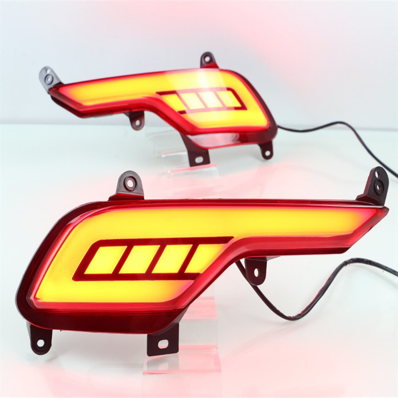 SNCN Led rear driving lights for Hyundai Santafe IX45 2016 2017 Led Brake Lights rear bumper lamp Turning Signal light<br>