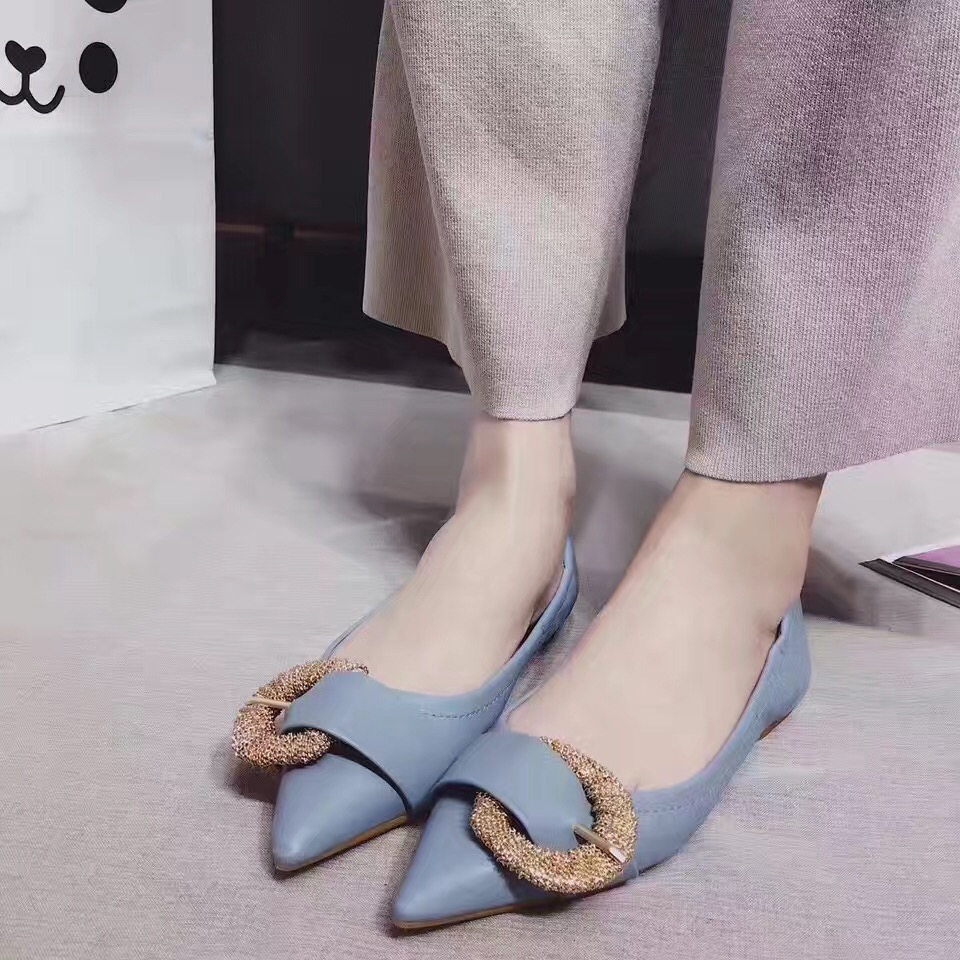 2017 Blue Shoes Woman Flats Moccasins Women Shoes Ballerina Shoes for Women Blue Pink Pointed Toe Flat Shoes<br><br>Aliexpress