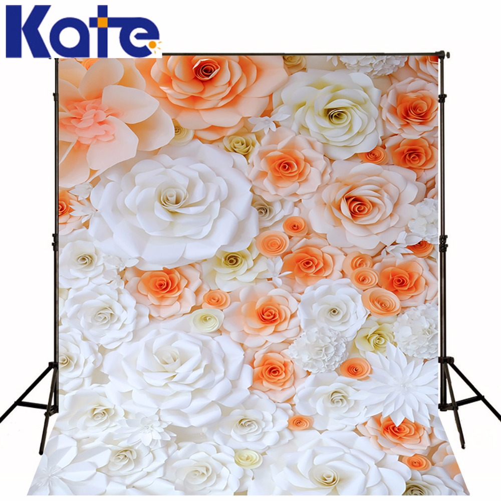Kate Flower Wall Background Outdoor Wedding Backdrop 3D Paper Flower Wall Photo Romantic Wedding Photography Backdrops<br>