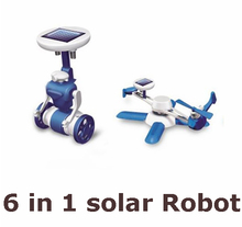 Hot sale New Children's DIY solar toys 6 in1 educational solar power Kits Novelty solar robots For Child birthday Gift(China)