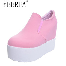 Buy YIERFA Wedge high heels zapatos mujer Platform Heels ladies Canvas Shoes chaussure femme women school valentine Casual Shoes for $19.61 in AliExpress store