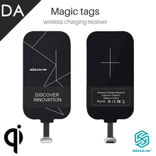 Universal Qi Wireless Charging Reciver Card Coil Nillkin Magic Tag Wireless Charging Patch Sticker for Samsung Android iPhone G4(China)