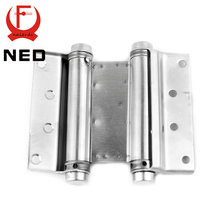 2PCS NED-5107 5 Inch Double Action Spring Door Hinge Stainless Steel Rebound Hinge For Cafe Swing Western Furniture Hardware