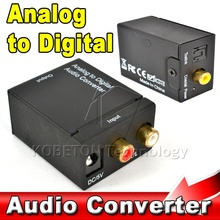 Analog to Digital Converter RL RCA to Optical Coaxial Toslink S/PDIF SPDIF Audio Converter Adapter for Apple TV CD DVD