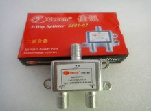 Freeshipping 2 Way CATV Cable TV Antenna RF Signal Combiner Splitter  5-2400MHz GS01-02