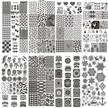 New Assorted Designs Nail Art Metal Plate Image Stamping Plates DIY Manicure Printing Template Plate Tool XYZ17-32(China)