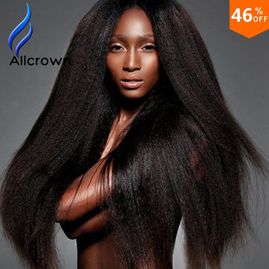 Kinky Straight Wig Virgin Glueless Full Lace Wigs 10a Indian Remy Human Hair Lace Front Wigs Black Women Upart Wig Human Hair<br><br>Aliexpress