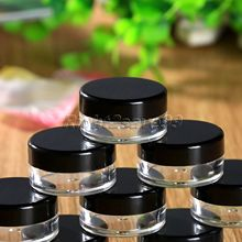 10Pcs 5ml Mini Cosmetic Portable Empty Cream Jar Pot Eyeshadow Makeup Cosmetic Container(China)