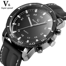 NEW V6 Casual mens watches brand luxury Silicone Men Military Wrist Watch Fashion Men Sports Quartz Watch Relogio Masculino