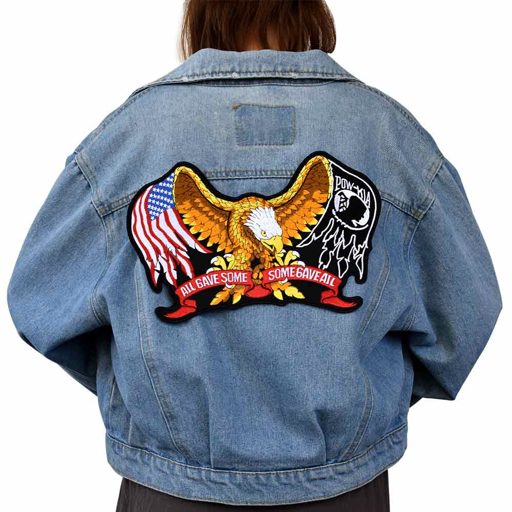 Eagle Iron On Patch Embroidered Applique Label punk biker Accessories Badge