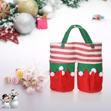 3pcs/set Christmas Wine Bottle Bags Beverage Holders Christmas Candy Gift Bags Set with Handles Christmas Decorations for Home(China)