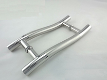 S Design Storefront Door Pull Handles Tubing Stainless Steel For Entry/Glass/Wood Door 300mm(China)