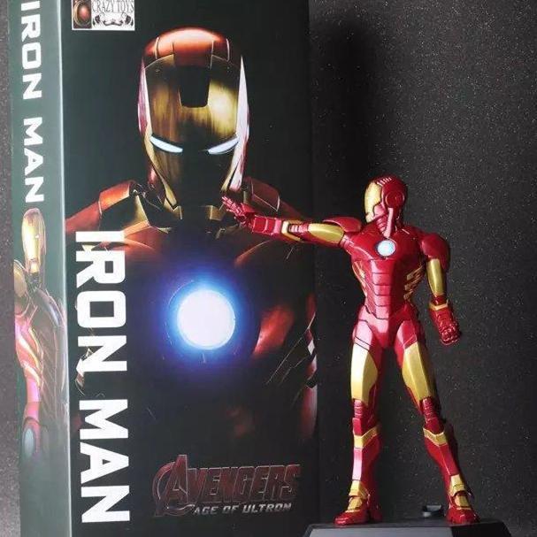 1pcs/set Ironman MARK New Avengers Stark Tonny Marvel Figures PVC 23cm Hot Magic Animation Collection Model Globos<br><br>Aliexpress