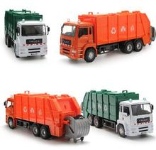35Cm Large Diecast Model Buses Toy Garbage Truck Autorama Brinquedo Eco-friendly Car Transport Vehicle Model Toy Gift For Boy(China)