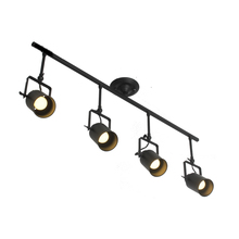 One combo 4 head LED Track lamp Kung Retro Loft Vintage 7W E27 led lamp round canopy rail Ceiling Lamp Bar Clothing spotlight