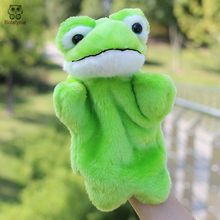 BOLAFYNIA Children Hand Puppet Toys big eyes green frog baby kid plush Stuffed Toy for Christmas birthday gifts(China)