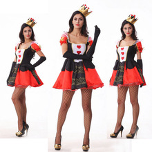 Sexy Women Cosplay Queen Costume Black Red Princess Adult Costume Fancy Dress Cosplay Carnival Clothing