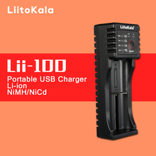 Original LiitoKala lii-100 Intelligent Battery Charger with USB Output Power Bank Function for Ni-MH Lithium Ion for 18650 14500
