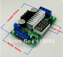 LTC1871 DC-DC Boost converter Adjustable Step-Up High Power Supply Module Red LED Voltage meter/ Button Switch #30119