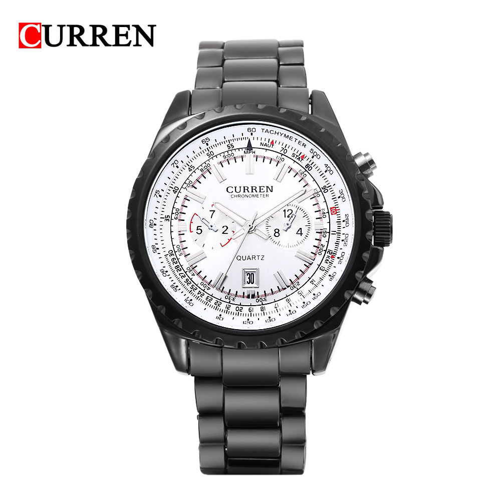 Curren Man Luxury Military Quartz Watch Stainless Full Steel Strap Luminous Wristwatch With Two Decorative Sub-dials Army 8053<br><br>Aliexpress