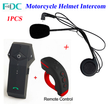 1Pcs 2017 Newest Colo-RC BT Helmet Intercom Headset Remote Control Motorcycle Helmet Bluetooth Intercom Interphone with FM NFC(China)