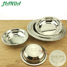 JIANDA Newest 304 Stainless Steel Soup Plate High Quality Tableware Durable Dish Bowls Kitchen Accessories(China)