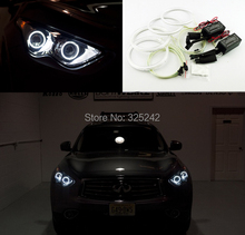 For Infiniti FX QX70 FX35 FX37 FX50 2009 2010 2011 2012 2013 Excellent angel eyes Ultrabright illumination CCFL Angel Eyes kit