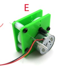 300 Reducer motor solar motor single double shaft/radio recorder motor/mini DC generator/toy accessories/technology model parts