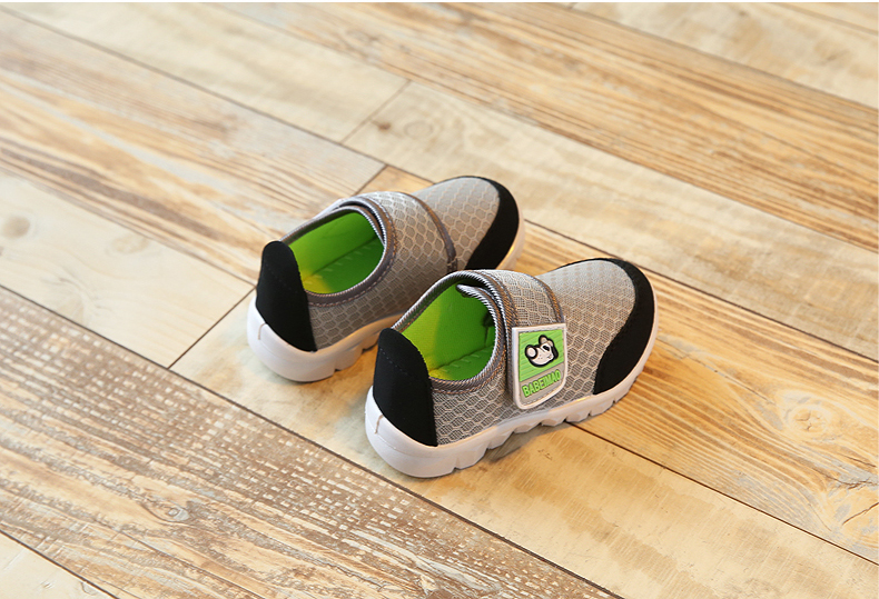 17 Autumn Kids Shoes Boys Girls Sports Shoes Breathable Mesh Children Casual Shoes Sneakers Soft Sole Toddler Baby Shoes 17