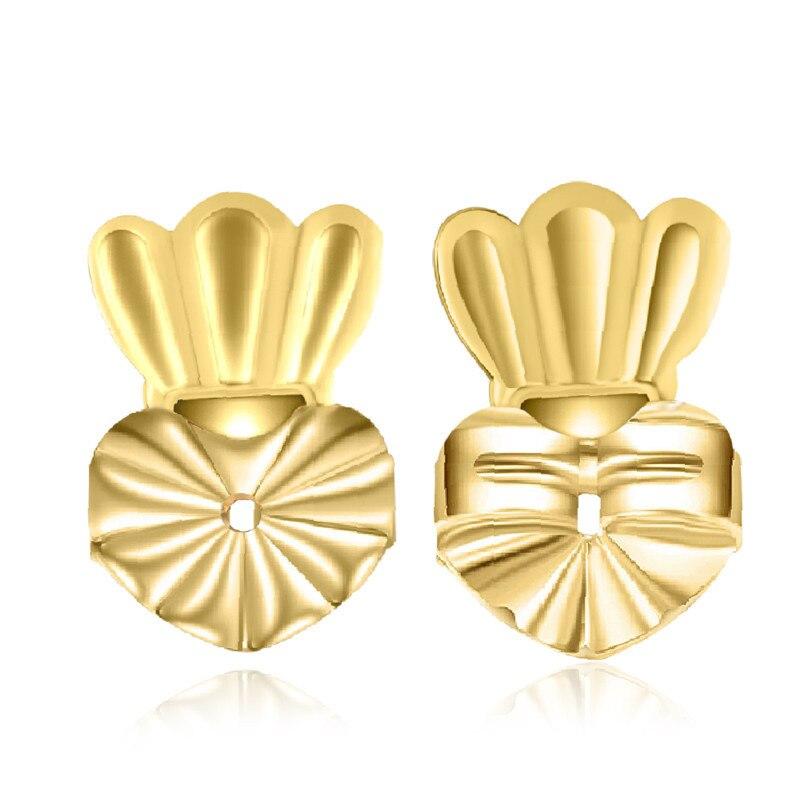 Ms Betti heart clover crown earring listers back set07