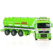 Collection Engineering Vehicles Alloy Construction Car Series 1:50 Large Tanker Truck Gas Car Model Toys Car For Gifts Alloy Car