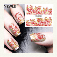 YZWLE 1 Sheet DIY Decals Nails Art Water Transfer Printing Stickers Accessories For Manicure Salon YZW-8163(China)