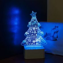 Cnhidee Nordic Christmas Tree 3d Home Decor Table Lamp Led Party Lights Lampada Decorativa as Creative Gifts(China)