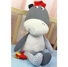 (2 pieces/lot) big Baby musical toy Soft Smooth cattle cow Plush toy Sleep Calm Doll with a musical bird