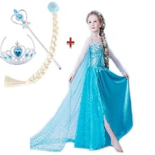 Christmas Girl Dresses Princess Children Clothing Anna Elsa Cosplay Costume Kid's Party Dress Baby Girls Clothes 4pcs set