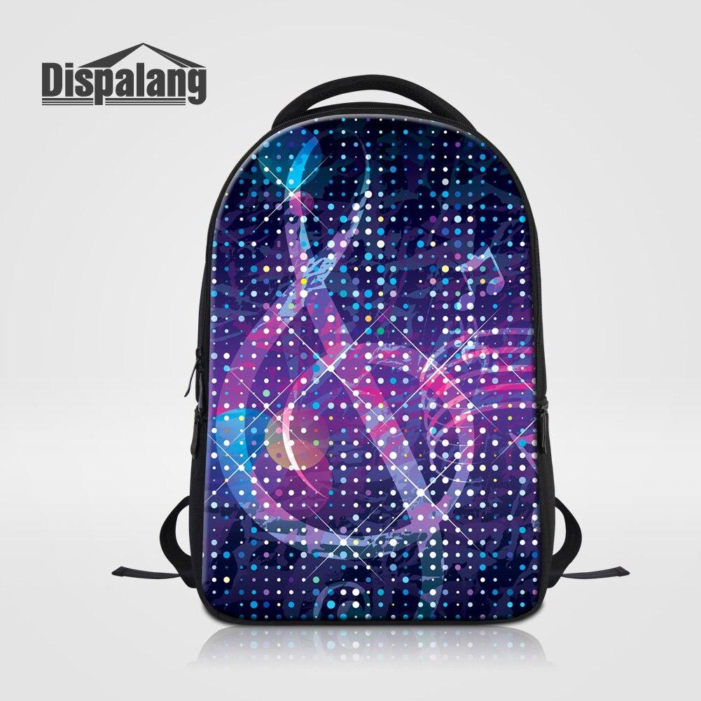 Dispalang Women Fashion Backpack Lightning Musical Note School Bags For Teenagers Shoulder Bag Girls Laptop Computer Bag Mochila<br>