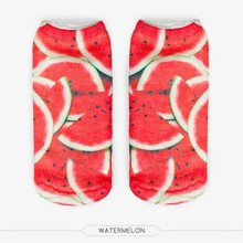 3D Full Printing Watermelon Socks Summer Low Cut Ankle Fruit Socks Printed Casual  Socks