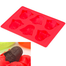2017 High Quality Creative Silicone Star Wars Darth Vader Shape Ice Cube Tray Mold Cookies Chocolate Soap Baking