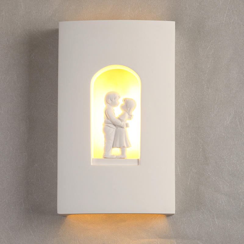 Plaster Led bedroom wall lamp Northern Europe style bedside Light modern minimalist night lamps<br><br>Aliexpress